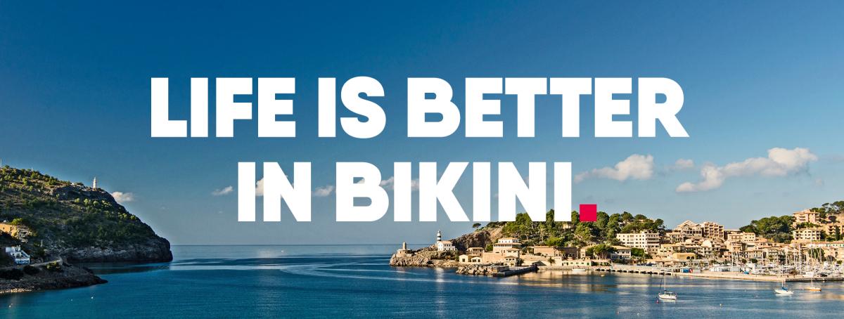 City bikini att Lake